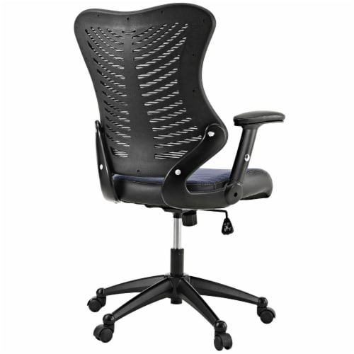 Gray Clutch Office Chair Perspective: top