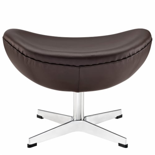 Glove Leather Ottoman - Brown Perspective: top