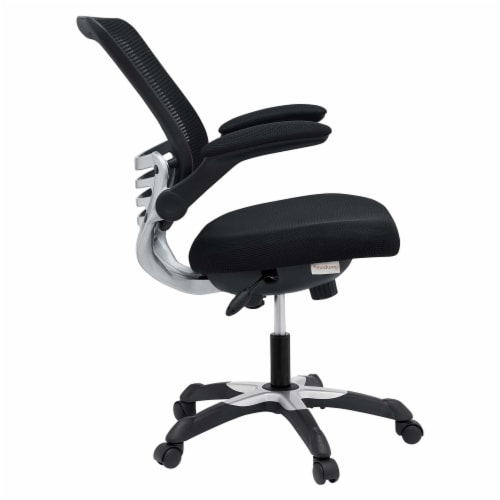 Black Edge Mesh Office Chair Perspective: top