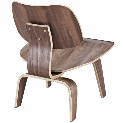 Fathom Wood Lounge Chair, EEI-510-WAL Perspective: top