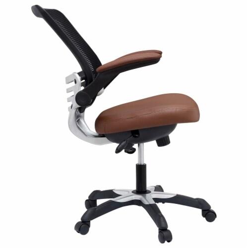 Edge Vinyl Office Chair, EEI-595-TAN Perspective: top