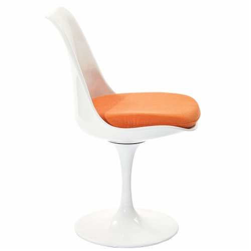 Lippa Dining Fabric Side Chair - Orange Perspective: top