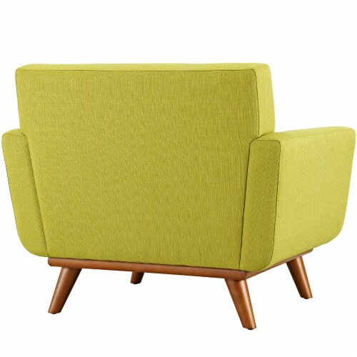 Engage Upholstered Fabric Armchair - Wheatgrass Perspective: top