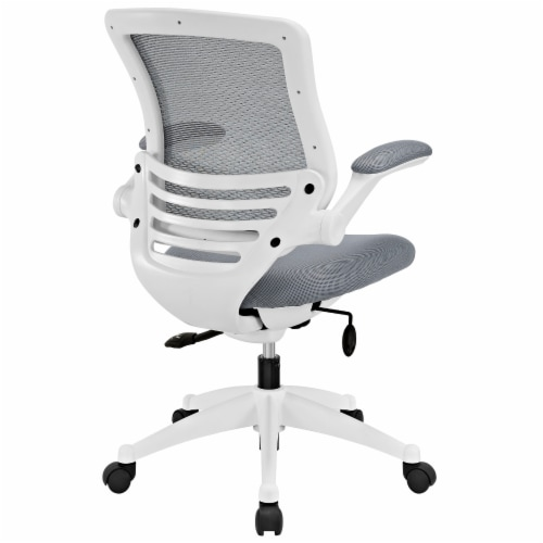 Edge White Base Office Chair - Gray Perspective: top