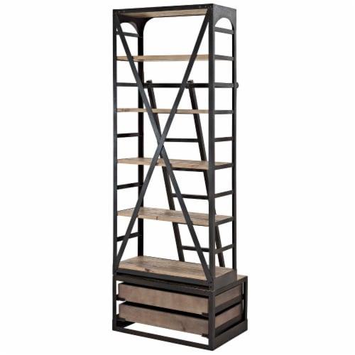 Velocity Wood Bookshelf - Brown Perspective: top