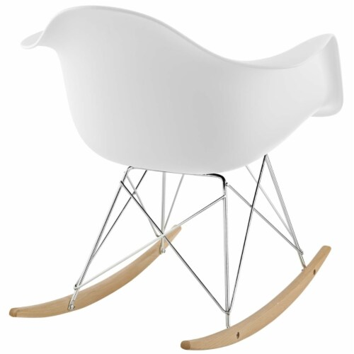 White Rocker Lounge Chair Perspective: top