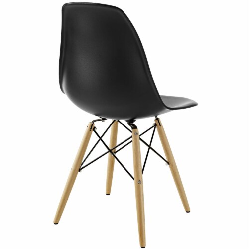 Pyramid Dining Side Chair - Black Perspective: top
