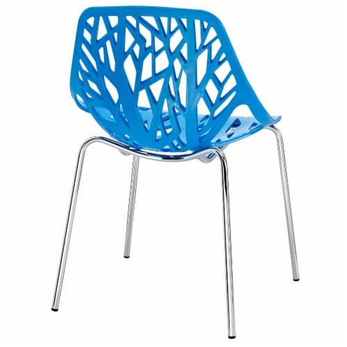 Stencil Dining Side Chair Set of 4 - Blue Perspective: top