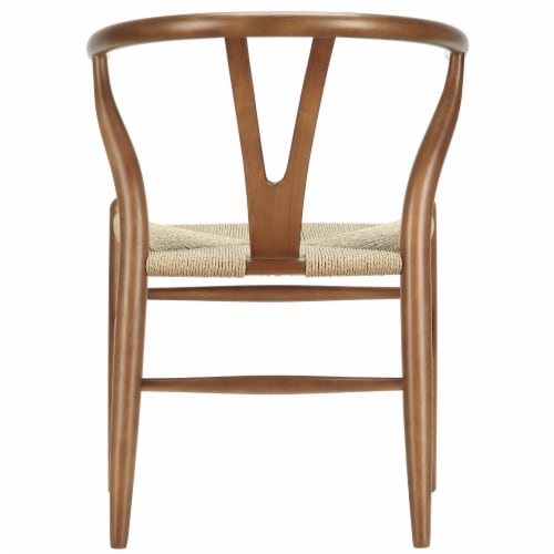 Amish Dining Wood Armchair - Walnut Perspective: top