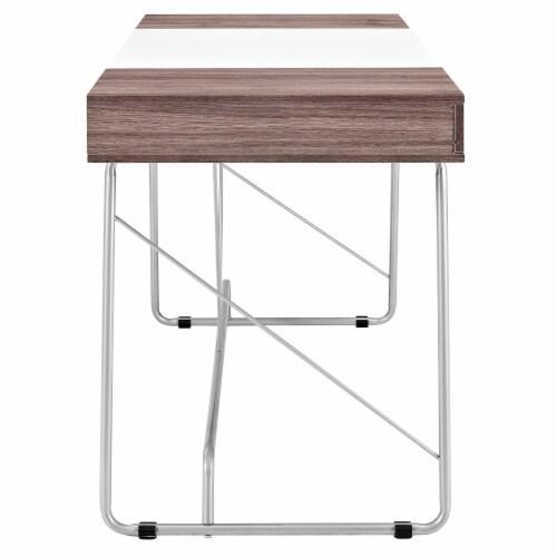 Panel Office Desk - Birch Perspective: top