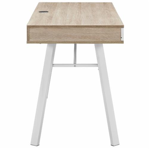 Stir Office Desk - Oak Perspective: top