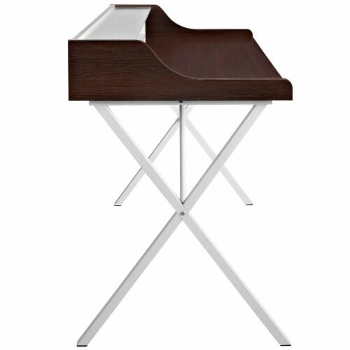 Bin Office Desk - Cherry Perspective: top