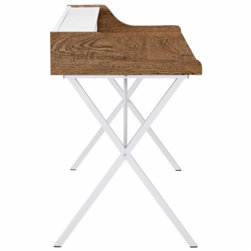 Bin Office Desk - Walnut Perspective: top