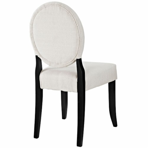 Button Dining Side Chair - Beige Perspective: top