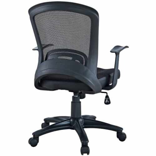 Black Pulse Mesh Office Chair Perspective: top
