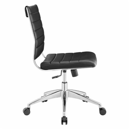 Black Jive Armless Mid Back Office Chair Perspective: top