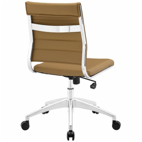 Tan Jive Armless Mid Back Office Chair Perspective: top