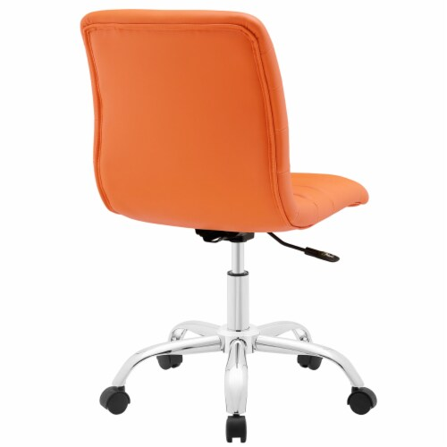Ripple Armless Mid Back Office Chair, EEI-1532-ORA Perspective: top