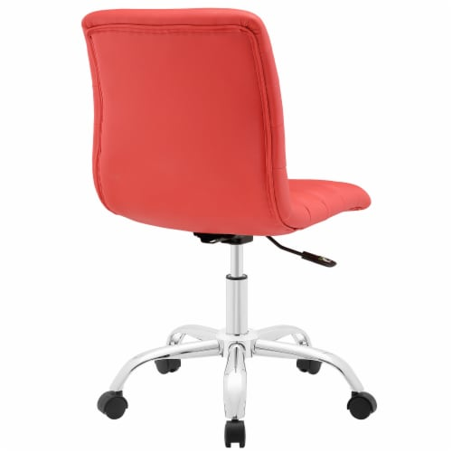 Ripple Armless Mid Back Office Chair, EEI-1532-RED Perspective: top