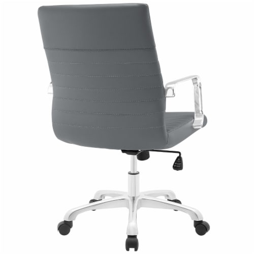 Gray Finesse Mid Back Office Chair Perspective: top