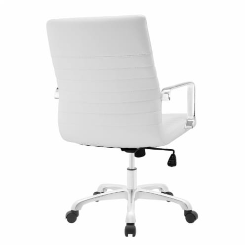 White Finesse Mid Back Office Chair Perspective: top