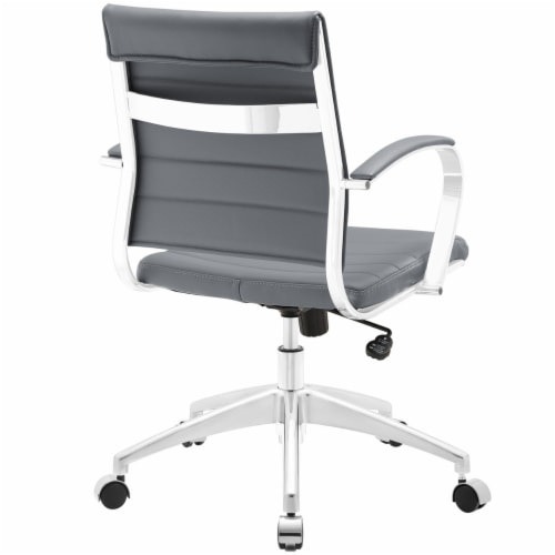 Gray Jive Mid Back Office Chair Perspective: top