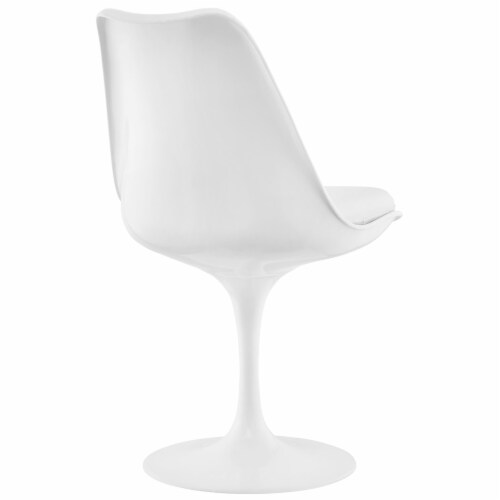 Lippa Dining Vinyl Side Chair - White Perspective: top