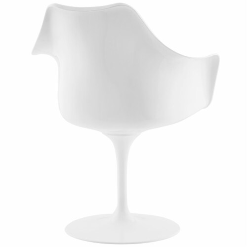 Lippa Dining Vinyl Armchair - Black Perspective: top