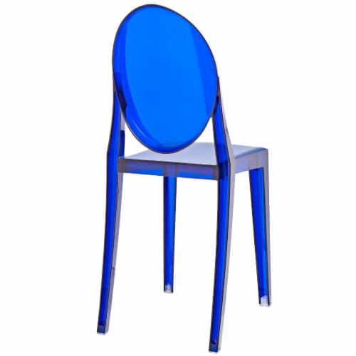 Casper Dining Side Chair - Blue Perspective: top