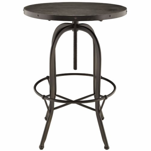 Gather 3 Piece Dining Set - Black Perspective: top
