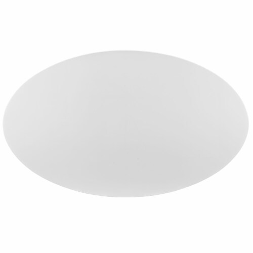 """Lippa 78"""" Oval Wood Top Dining Table - White Perspective: top"""