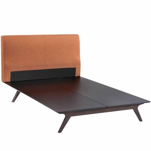 Tracy 2 Piece Queen Bedroom Set - Cappuccino Orange Perspective: top