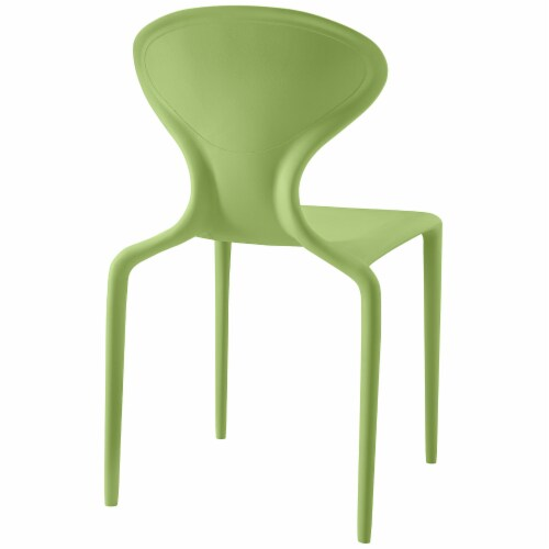Draw Dining Side Chair - Green Perspective: top