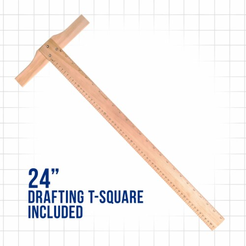 Extra Large Adjustable Wood Artist Drawing & Sketching Board 26  Wide x 21  Tall Perspective: top