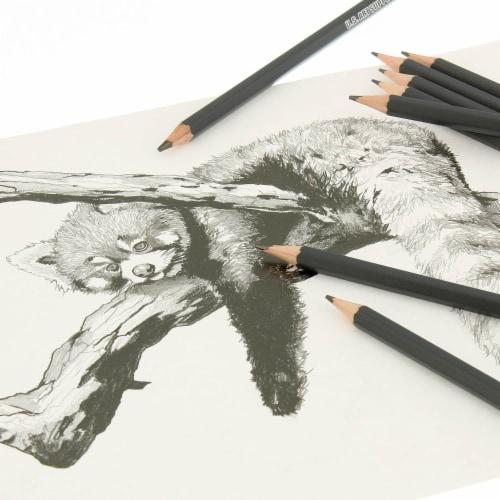 20 Piece Artist Sketch Set with Storage Case - Sketch & Charcoal Pencils, Pastel, & Stumps Perspective: top