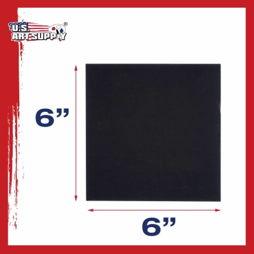 6  X 6  Black Acid Free Canvas Panels 6-Pack (1 Full Case of 6 Single Canvas Panels) Perspective: top