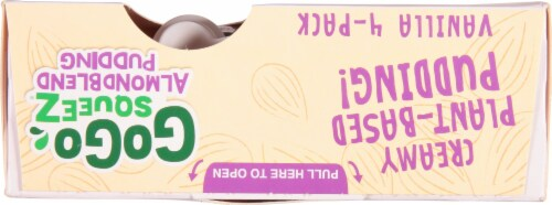 GoGo Squeez Almond Blend Vanilla Pudding Perspective: top