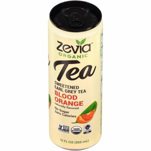 Zevia Organic Blood Orange Sweetened Earl Grey Tea Perspective: top