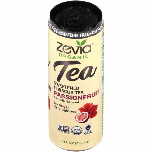 Zevia® Organic Caffeine Free Passionfruit Sweetened Hibiscus Tea Perspective: top