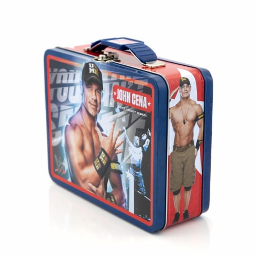 WWE Tin Lunch Box Featuring Superstar Wrestler John Cena Perspective: top
