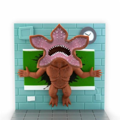 Stranger Things Eleven Vs. Demogorgon Exclusive Diorama | SuperEmoFriends Design Perspective: top