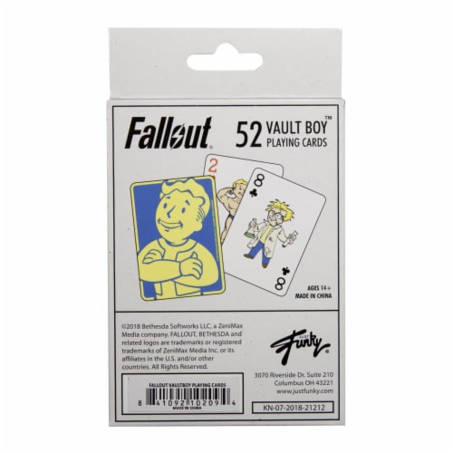 Fallout Vault Boy Playing Cards Perspective: top