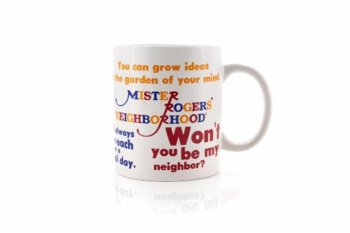 Mister Rogers Sweater Changing Mug | Sweater Changes With Heat | Holds 16 Ounces Perspective: top