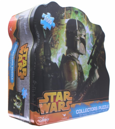 Star Wars 1000 Piece Collectors Tin Jigsaw Puzzle | Boba Fett Perspective: top