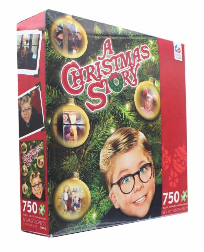 A Christmas Story 750 Piece Christmas Jigsaw Puzzle Perspective: top