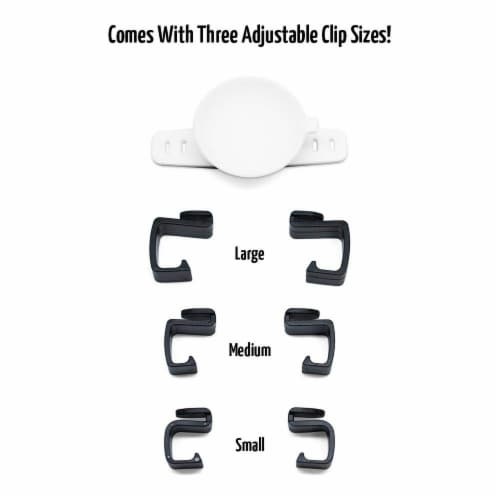 SUC-IT Thermal Silicone Suction Cup Phone Holder Stand - White with Black Clips Perspective: top