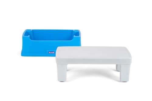 Simplay3 Play Around Storage Table - Blue/Gray Perspective: top
