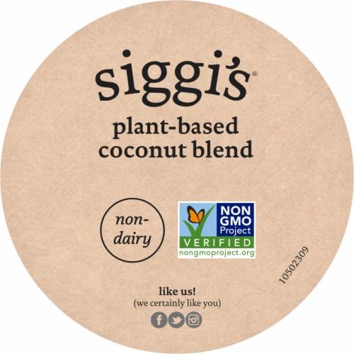 Siggi's Vanilla Cinnamon Plant Based Coconut Blend Yogurt Perspective: top