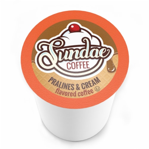 Sundae Ice Cream Flavored Coffee Pods,for 2.0 Keurig, Pralines and Cream, 48 Count Perspective: top
