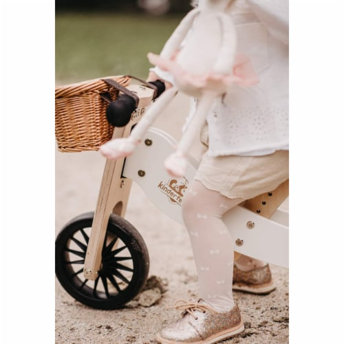 Kinderfeets Tiny Tot PLUS Toddler 2-in-1 Balance Bike and Tricycle, White Perspective: top